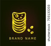 chips golden metallic logo