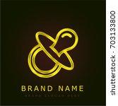 pacifier golden metallic logo
