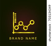 graph golden metallic logo