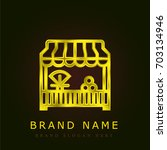 grocery golden metallic logo