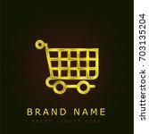 cart golden metallic logo