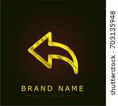 previous golden metallic logo | Shutterstock .eps vector #703135948
