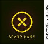 cancel golden metallic logo