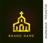 church golden metallic logo