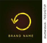 refresh golden metallic logo