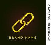 link golden metallic logo