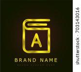 book golden metallic logo