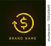 dollar symbol golden metallic...