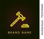 gavel golden metallic logo