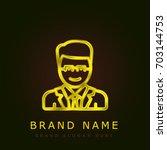 lawyer golden metallic logo