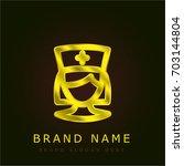 nurse golden metallic logo