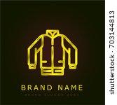 jacket golden metallic logo
