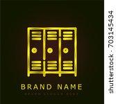 lockers golden metallic logo