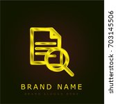 document golden metallic logo
