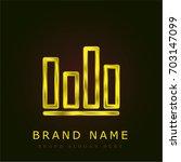 stats golden metallic logo