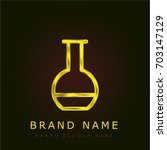 flask golden metallic logo