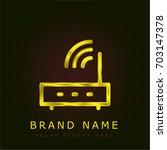 router golden metallic logo