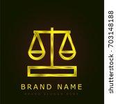 balance golden metallic logo