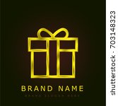 gift golden metallic logo