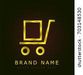trolley golden metallic logo
