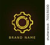 cogwheel golden metallic logo