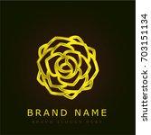 peony golden metallic logo