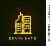 flats golden metallic logo