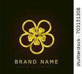 pear golden metallic logo
