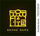 restaurant golden metallic logo
