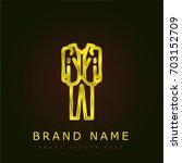 suit golden metallic logo