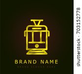 tram golden metallic logo