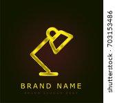 lamp golden metallic logo