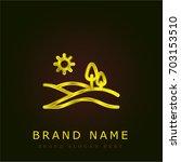 hills golden metallic logo