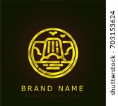 cascade golden metallic logo