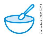 bowl spoon    Shutterstock .eps vector #703154014