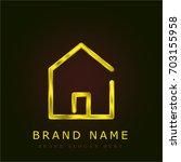 home golden metallic logo