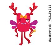 cartoon monster  vector... | Shutterstock .eps vector #703156318