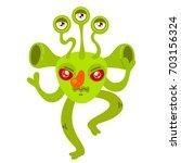 cartoon monster  vector... | Shutterstock .eps vector #703156324