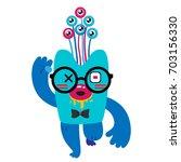 cartoon monster  vector... | Shutterstock .eps vector #703156330