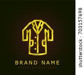 lab coat golden metallic logo