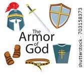 knight armor element | Shutterstock .eps vector #703158373
