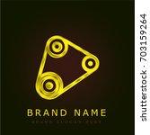 timing belt golden metallic logo