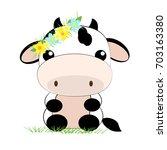 vector flat  illustration. cute ... | Shutterstock .eps vector #703163380