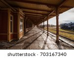 Old Train Station. Wooden Wrok...