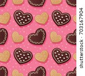 seamless pattern with... | Shutterstock . vector #703167904