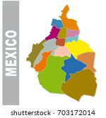 colorful mexico administrative... | Shutterstock .eps vector #703172014