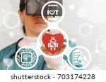 healthcare robotic cardiology...   Shutterstock . vector #703174228