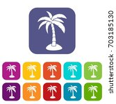 palm icons set  illustration in ... | Shutterstock . vector #703185130