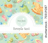 baby card with free space for... | Shutterstock .eps vector #70319287