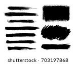 brush strokes isolated. ink... | Shutterstock .eps vector #703197868